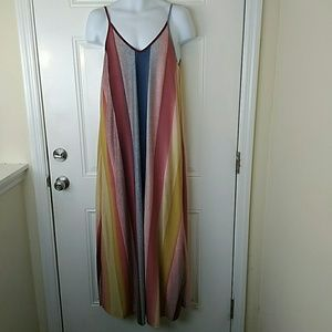 Dresses & Skirts - Vertical striped sleeveless maxi dress